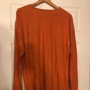 Men's Burnt Orange Long Sleeve Tee